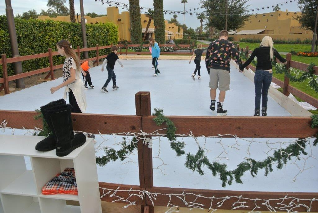 guests enjoy a skate