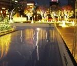 Japan ice rink lights