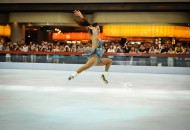 Michelle Kwan skating at Marina Bay Sands