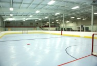 Indoor rink with hockey markings