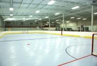 Indoor rink with hockey markings