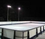Outdoor rink under lights