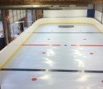 Rink with hockey markings